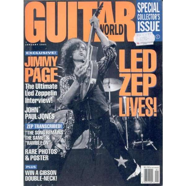 Led Zeppelin Guitar World (Jan. 1991) (USA 1991 Full Led Zeppelin collector's magazine)