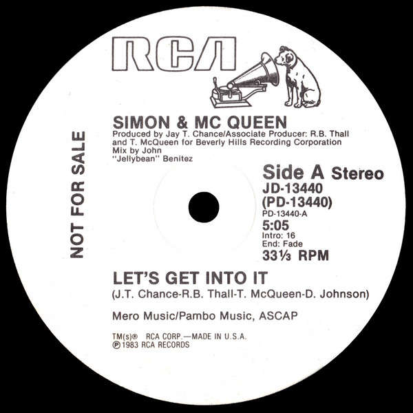 Simon & Mc Queen* - Let's Get Into It Let's Get Into It / instru