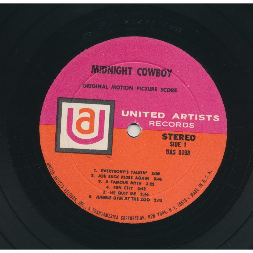 F. NEIL - J. BARRY - NILSSON midnight cowboy