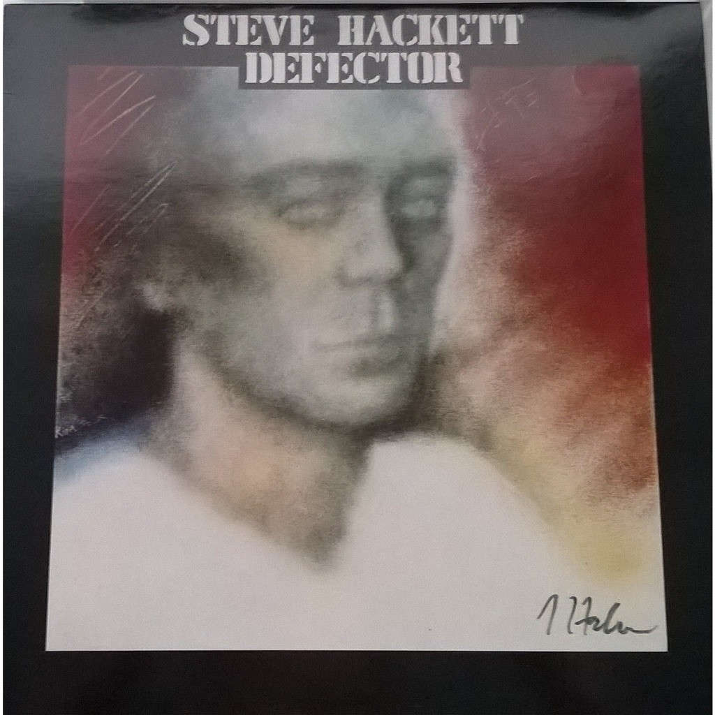 steve hackett defector - autographed