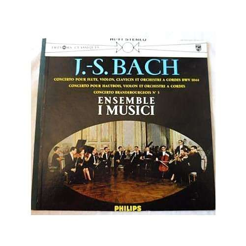 I Musici J.S. Bach : concerto bwv 1044, concerto brandebourgeois n°3 - ( stéréo )
