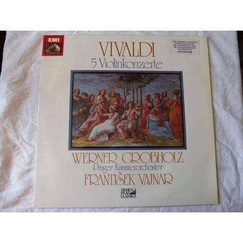 Werner Grobholz, violin - Frantisek Vajnar Vivaldi : 5 violinkonzerte - ( stéréo quadro mint condition )