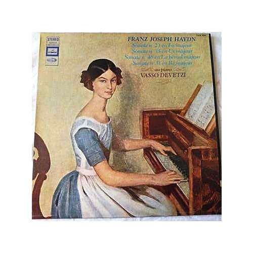 VASSO DEVETZI, piano HAYDN : sonatas for piano n° 23 - 35 - 46 - 51 - ( dowel spine cover stéréo near mint condition )