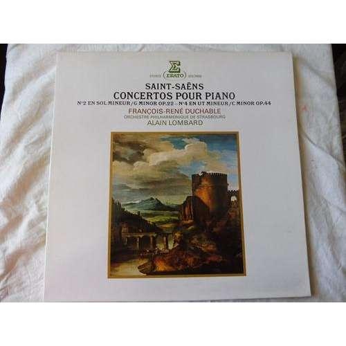 francois rené duchâble - alain lombard Saint-Saëns : concertos pour piano n° 2 & n° 4 - ( stéréo mint condition )