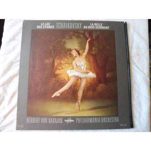 herbert von karajan tchaikovsky le lac des cygnes/la belle au bois dormant - ( dowel spine cover )