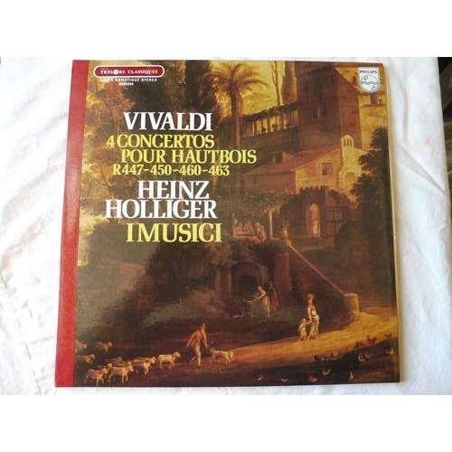 Heinz Holliger - I Musici Vivaldi : 4 concertos pour hautbois - ( stéréo near mint condition )
