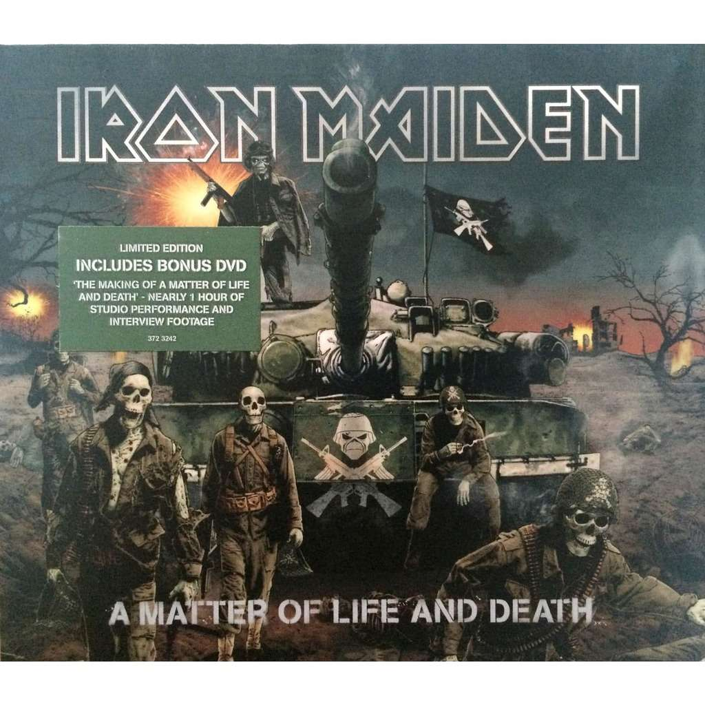 IRON MAIDEN - A MATTER OF LIFE AND DEATH (EURO PRESSING 1 CD + 1 DVD LIM/ED. CARDBOARD COVER COMP. W/GREEN STICKER)