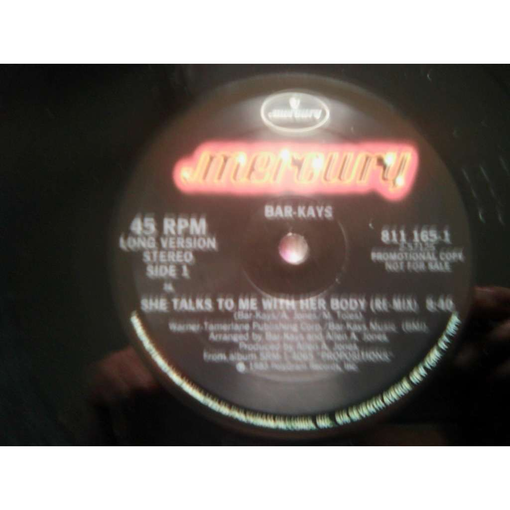 Bar-Kays - She Talks To Me With Her Body (Re-mix) Bar-Kays - She Talks To Me With Her Body (Re-mix) (12, Promo)