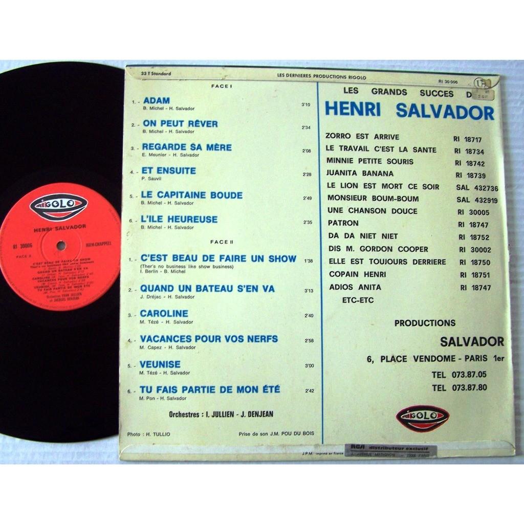 henri salvador LP original BIEM Adam / Tu fais partie de mon été