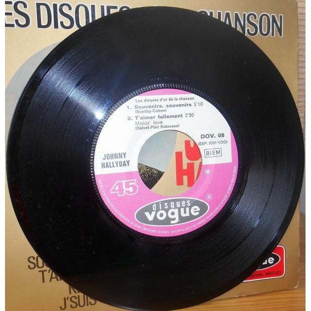 johnny hallyday les disques d'or de la chanson DOV.08