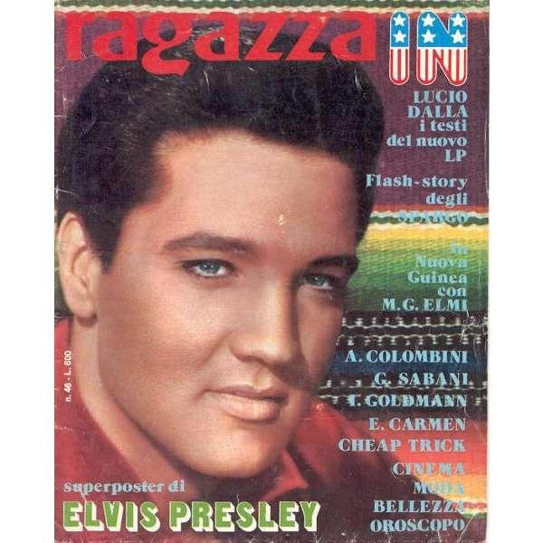 Elvis Presley Ragazza In (N.46) (Italian 70s full Elvis poster magazine)