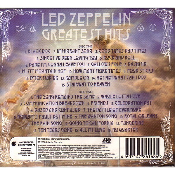 Greatest Hits By Led Zeppelin Cd X 2 With Avefenixrecords