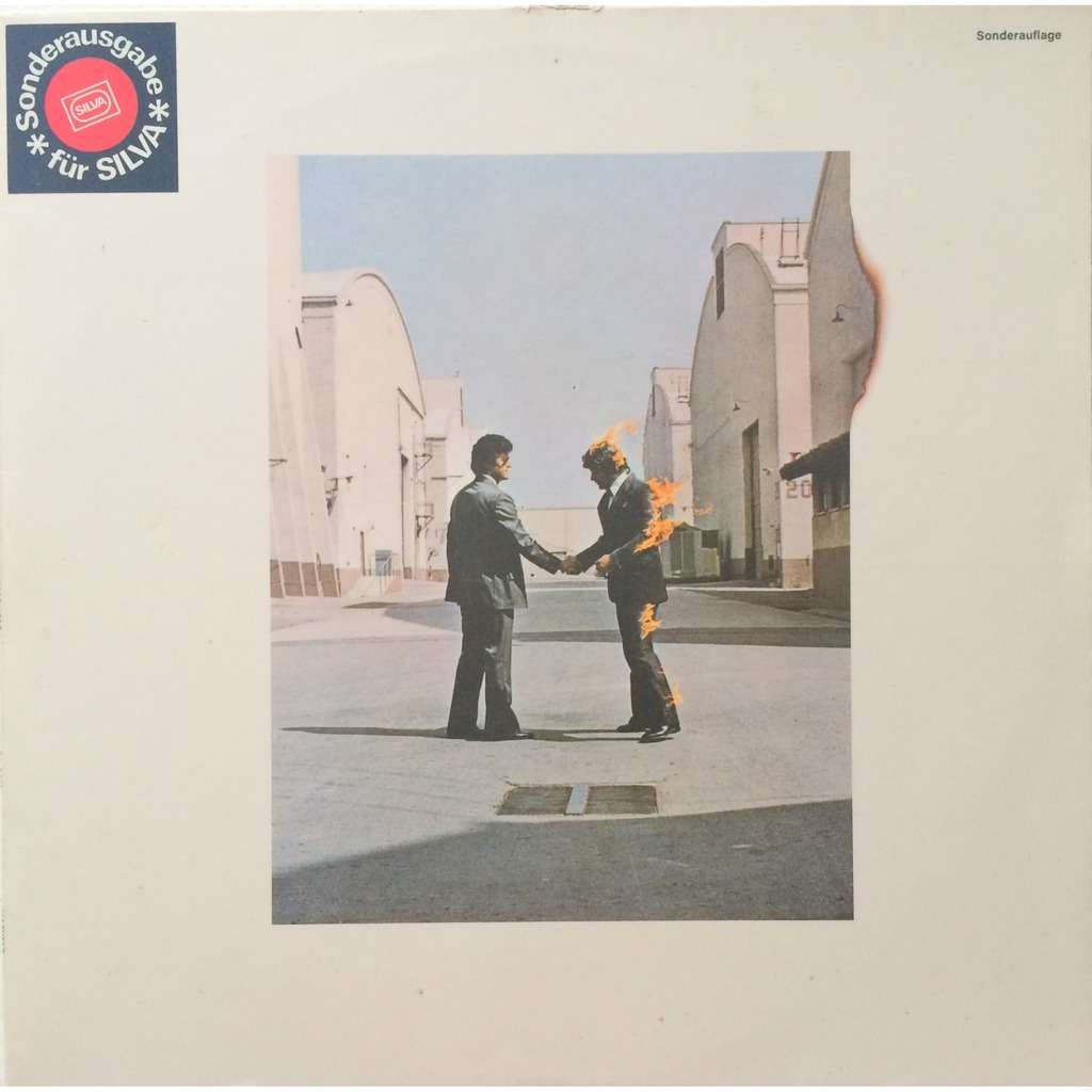 PINK FLOYD - WISH YOU WERE HERE (EXTREMALY RARE GER. PRESSING 12 VINYL LP FOR SWISS SILVA COMPANY ONLY WITH SILVA STICKER ON FR