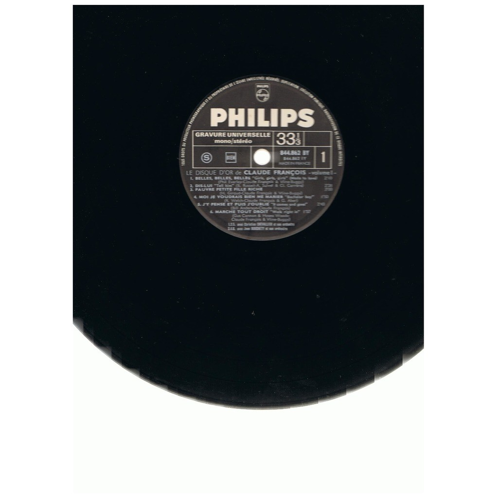 CLAUDE FRANCOIS LE DISQUE D'OR DE CLAUDE FRANCOIS VOLUME I