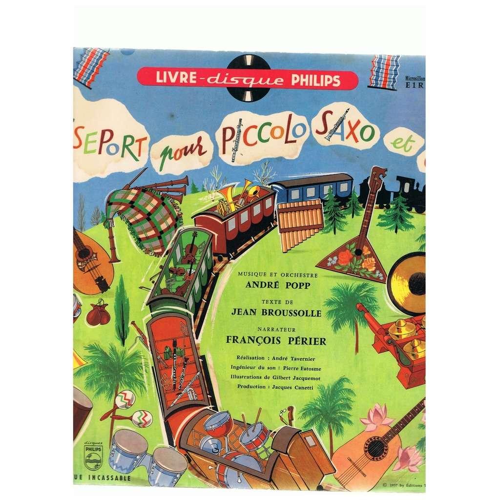 André Popp Passeport Pour Piccolo Saxo Et Cie (with booklet)