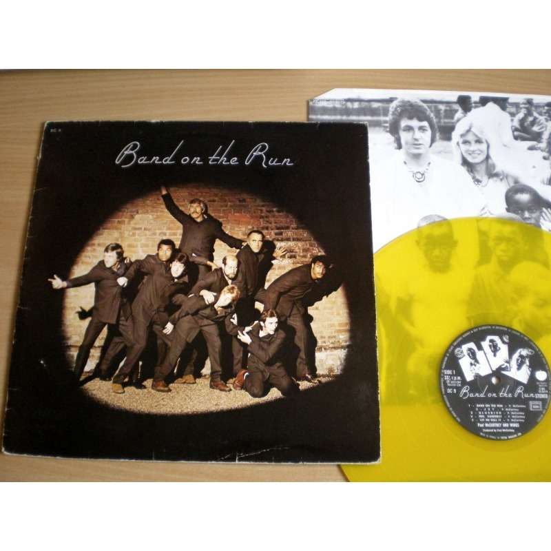 Paul McCartney And The Wings Band On The Run - YELLOW VINYL - France - DC 9 - Vinyle JAUNE