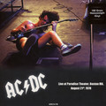 AC/DC - Paradise Theater Boston MA, August 21st 1978 (lp) - 33T