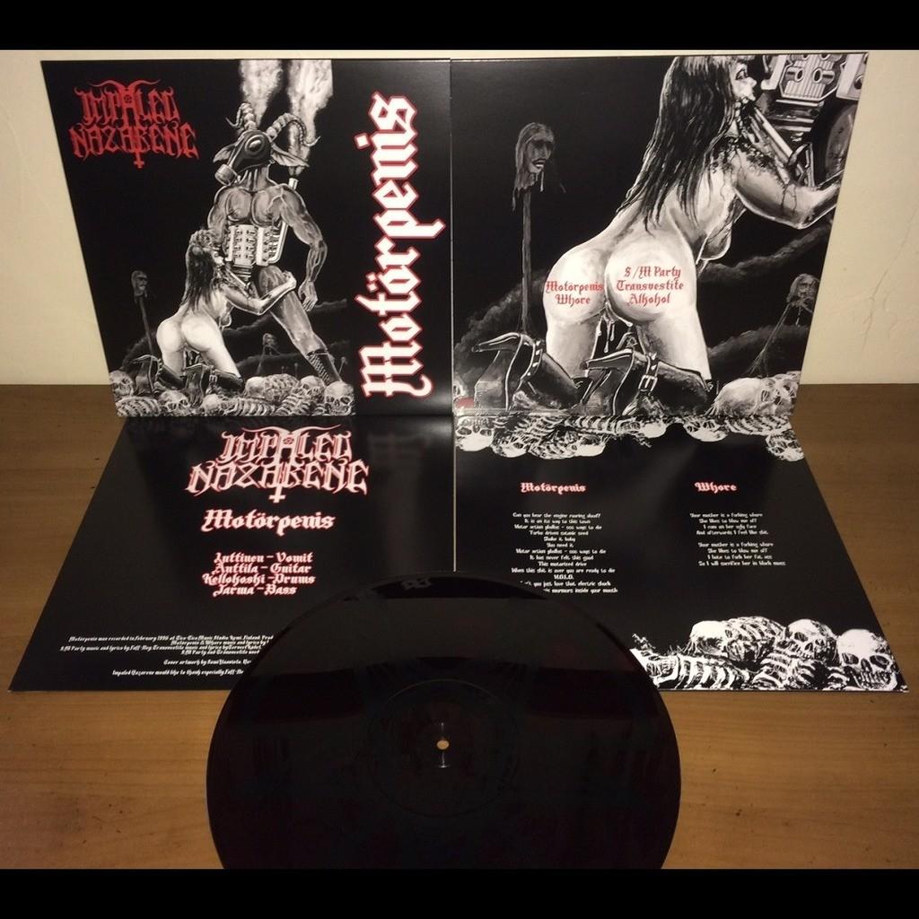 IMPALED NAZARENE Motorpenis. Red Marble Vinyl