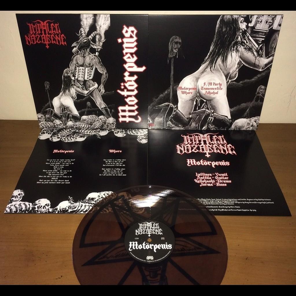 IMPALED NAZARENE Motorpenis. Clear Marble Vinyl