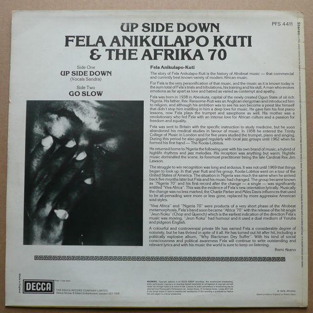 Fela Anikulapo Kuti & The Afrika 70 Up Side Down