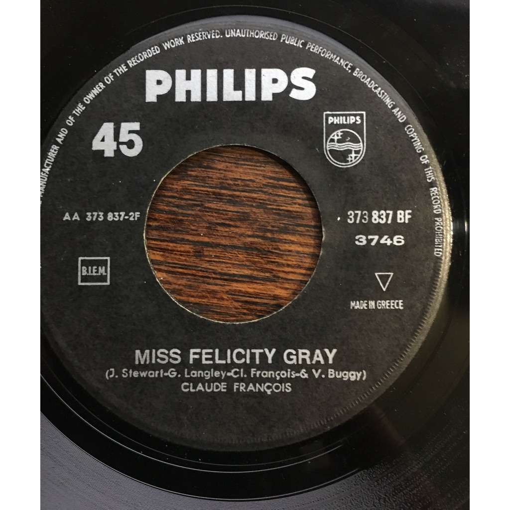 claude françois j'attendrai / miss felicity gray