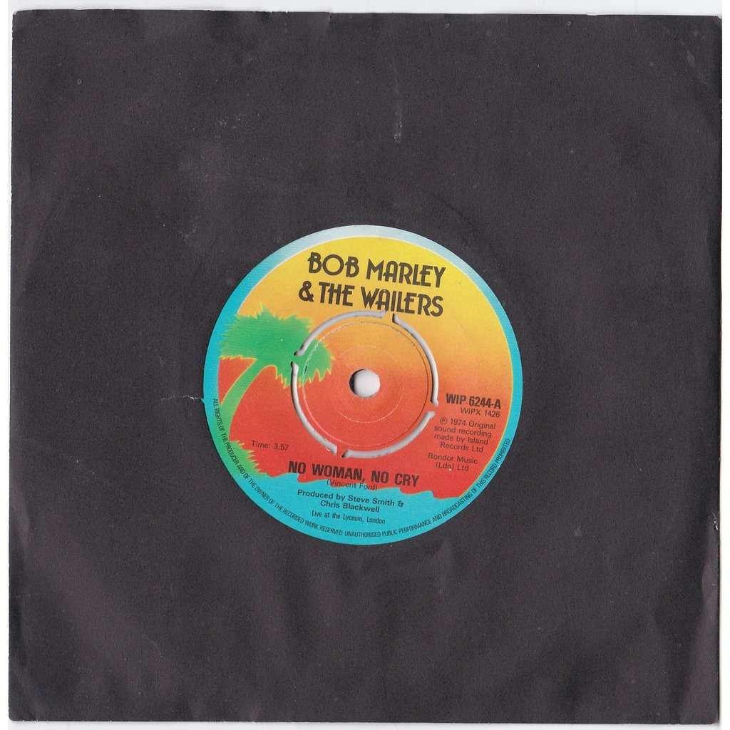 No Woman No Cry By Marley Bob The Wailers 7inch X 1 With