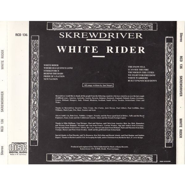 White rider by Skrewdriver, CD-ROM with colin88 - Ref ...