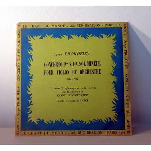 HEINZ STANSKE & FRANZ KONWITSCHNY PROKOFIEV concerto n°2 pour violon opus 63