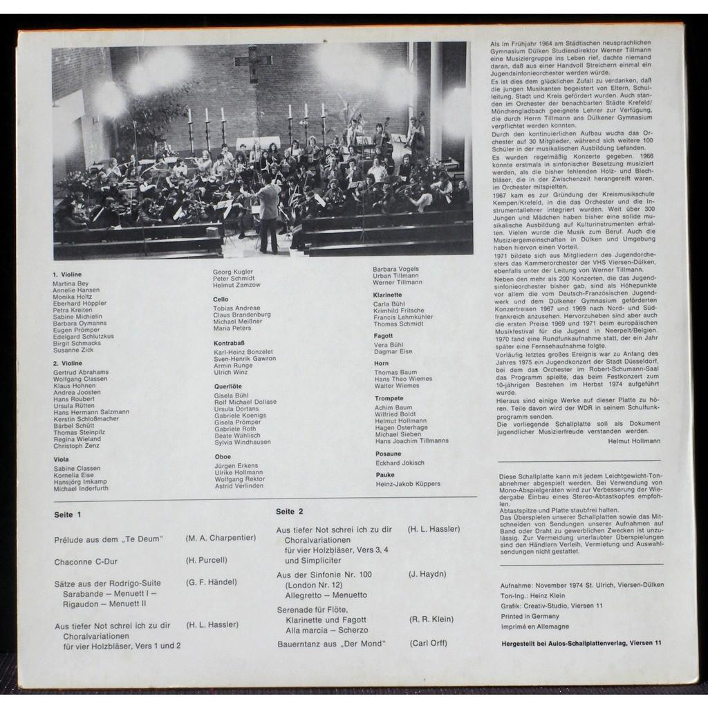Jugend symphonie orchester viersen-dülken werner tillmann live 1974 ...