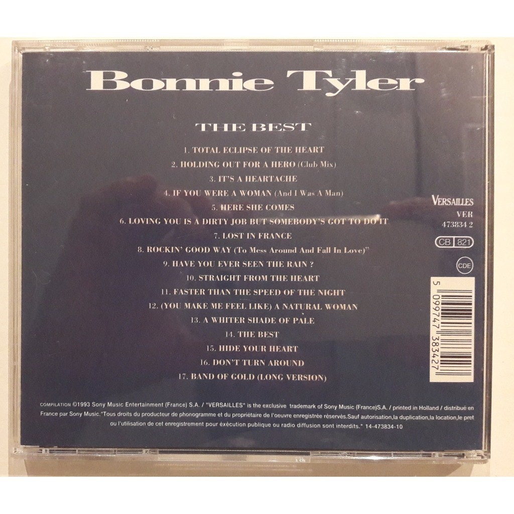 Bonnie Tyler / Best of Bonnie Tyler The Best ( Compilation 17 Tracks)