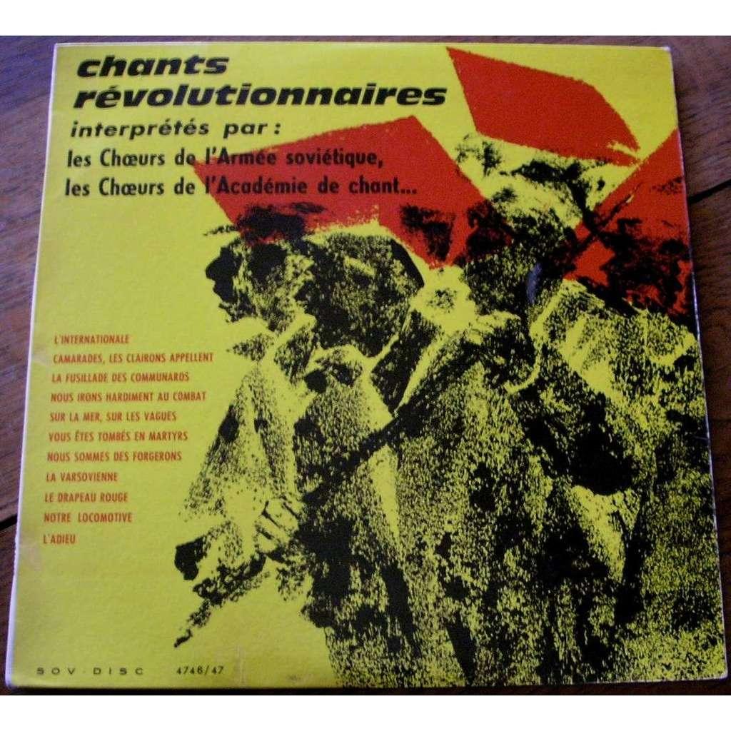 les choeurs de l armée soviétique chants revolutionnaires et de guerre civile