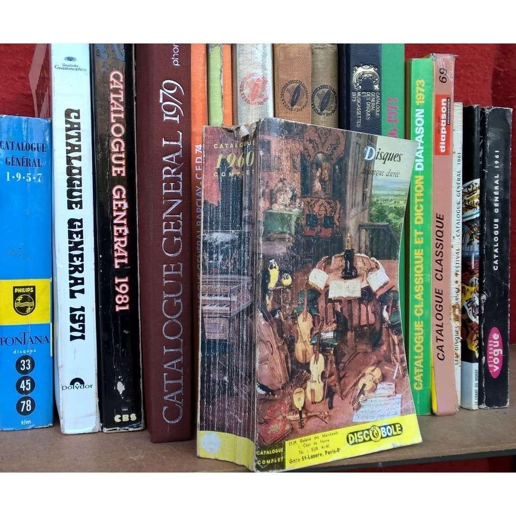 catalogue discobole 1960 catalogue 1960 complet , disques de longue durée