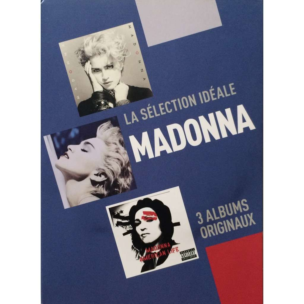 MADONNA - LA SELECTION IDEALE (EURO PRESSING 3 CD's DIGIPACK CARDBOARD COVER)