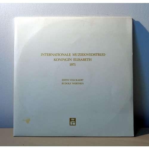 EDITH VOLCKAERT & RUDOLF WERTHEN QUEEN ELISABETH COMPETITION 1971 ( LAUREAT OF VIOLIN )