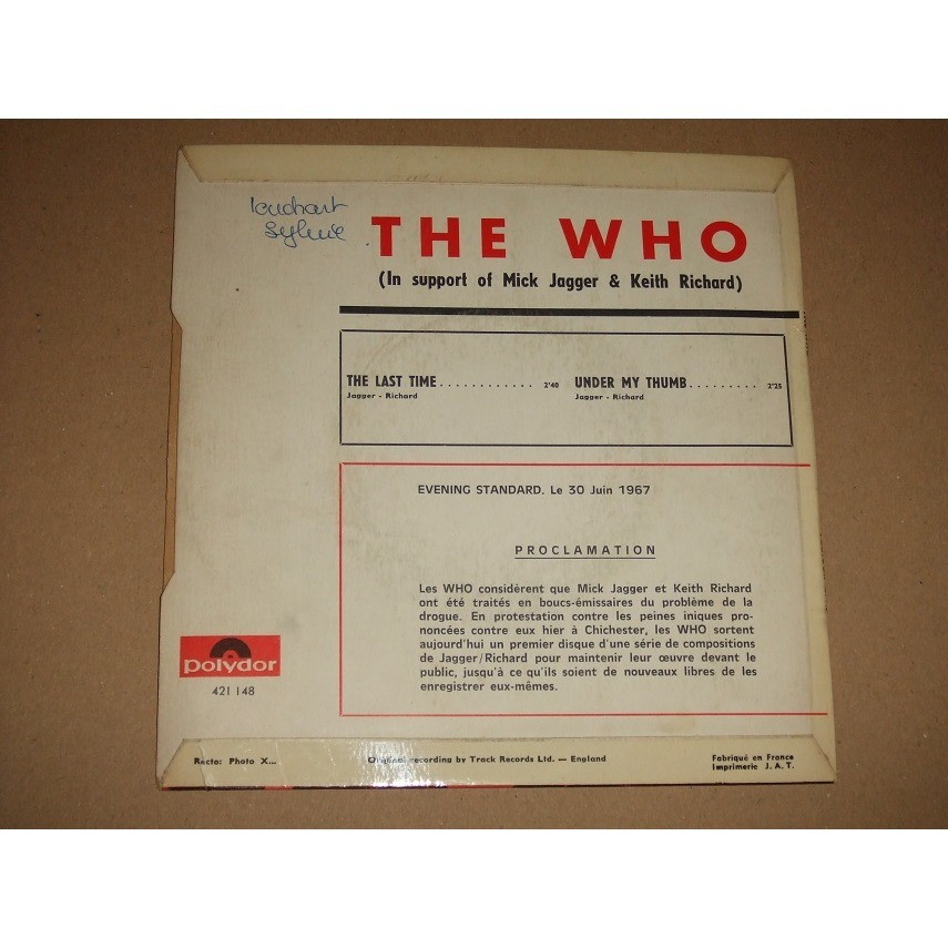 The Who Last Time / Under My Thumb