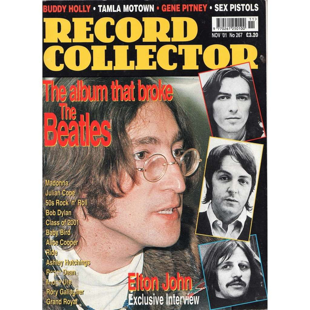 the beatles Record Collector (N.267 Nov. 2001) (UK 2001 Beatles front cover collector's magazine)