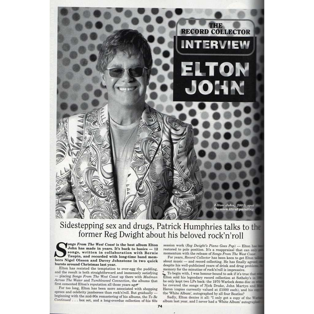 Elton john Record Collector (N.267 Nov. 2001) (UK 2001 collector's magazine)
