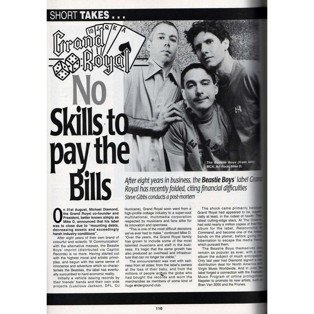 Beastie Boys Record Collector (N.267 Nov. 2001) (UK 2001 collector's magazine)