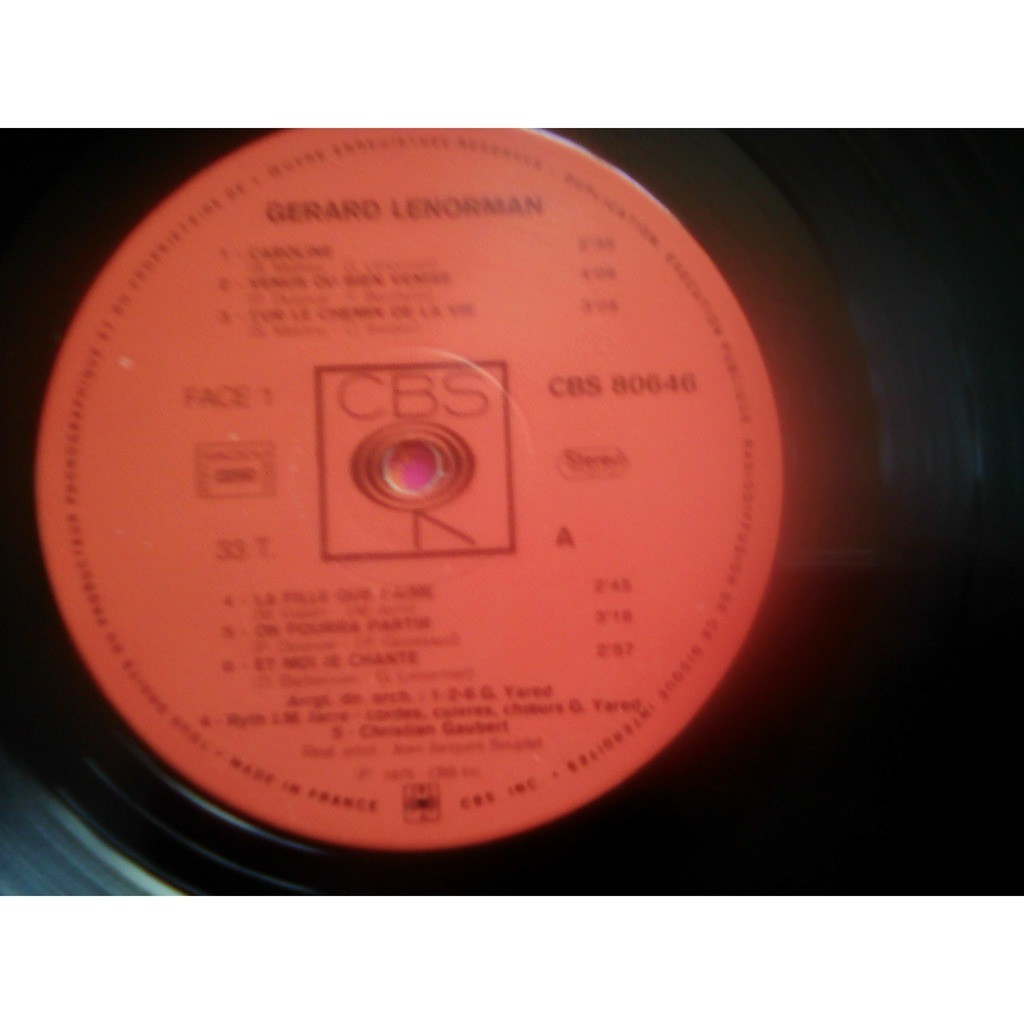 Gérard Lenorman - Gérard Lenorman (LP, Album) Gérard Lenorman - Gérard Lenorman (LP, Album)