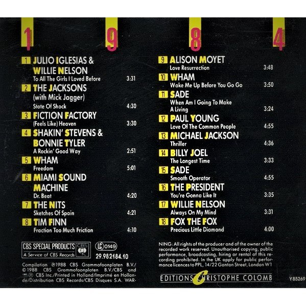 Fox The Fox , Michael Jackson , Fiction Factory 25 Ans De Musique Pop Internationale - 1984