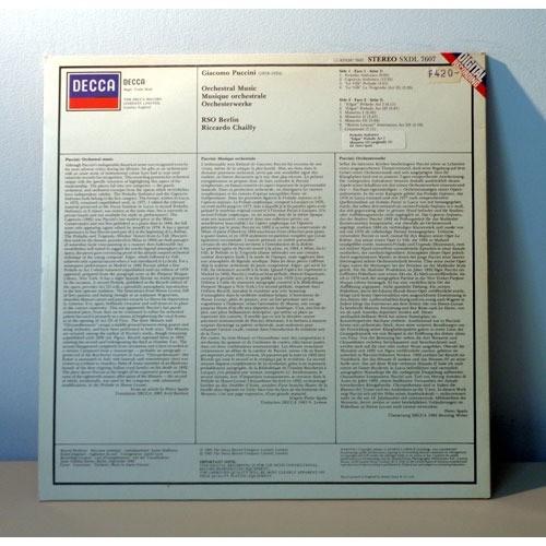 RICCARDO CHAILLY & RSO BERLIN PUCCINI orchestral music
