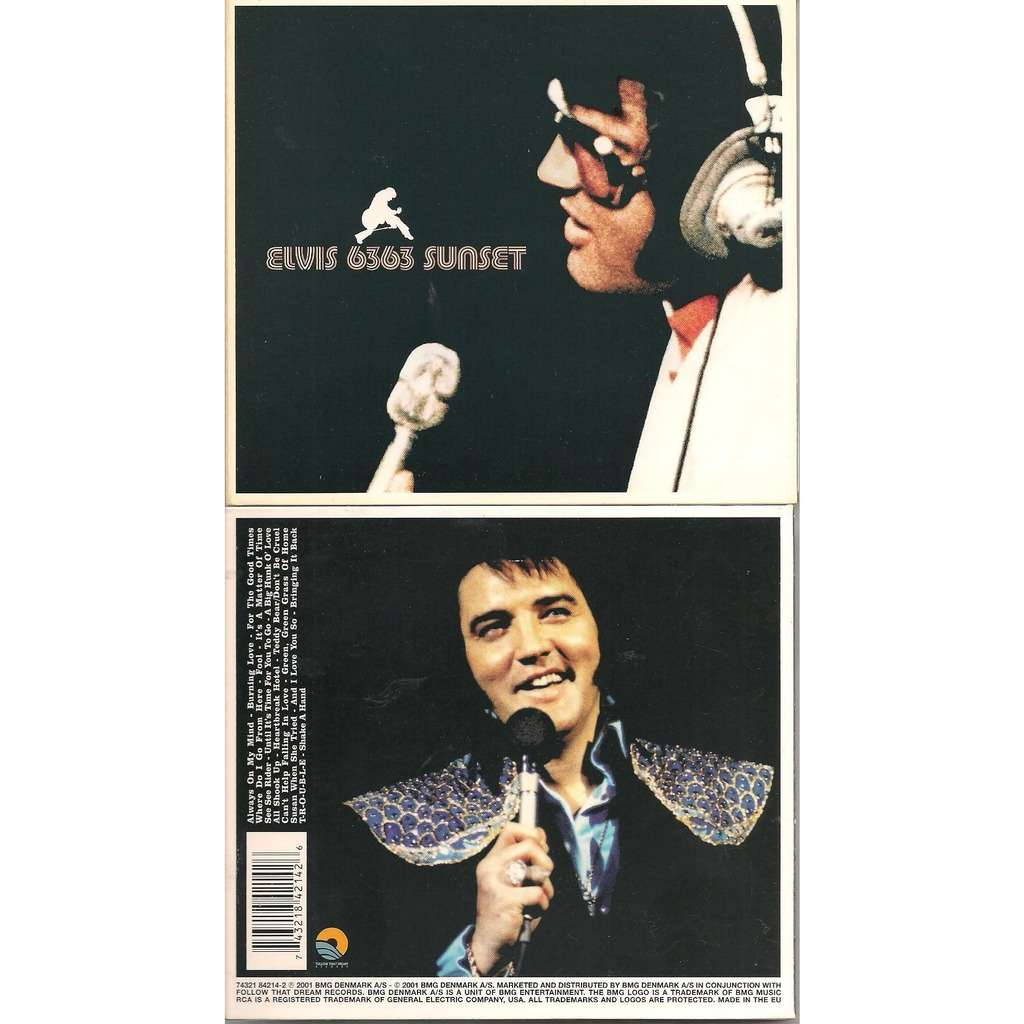 1 digipack cd 6363 sunset by Elvis Presley, CD with