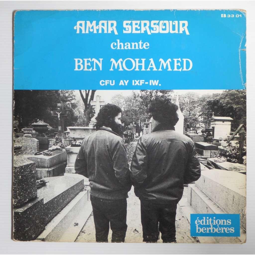 Amar Sersour Chante Ben Mohamed