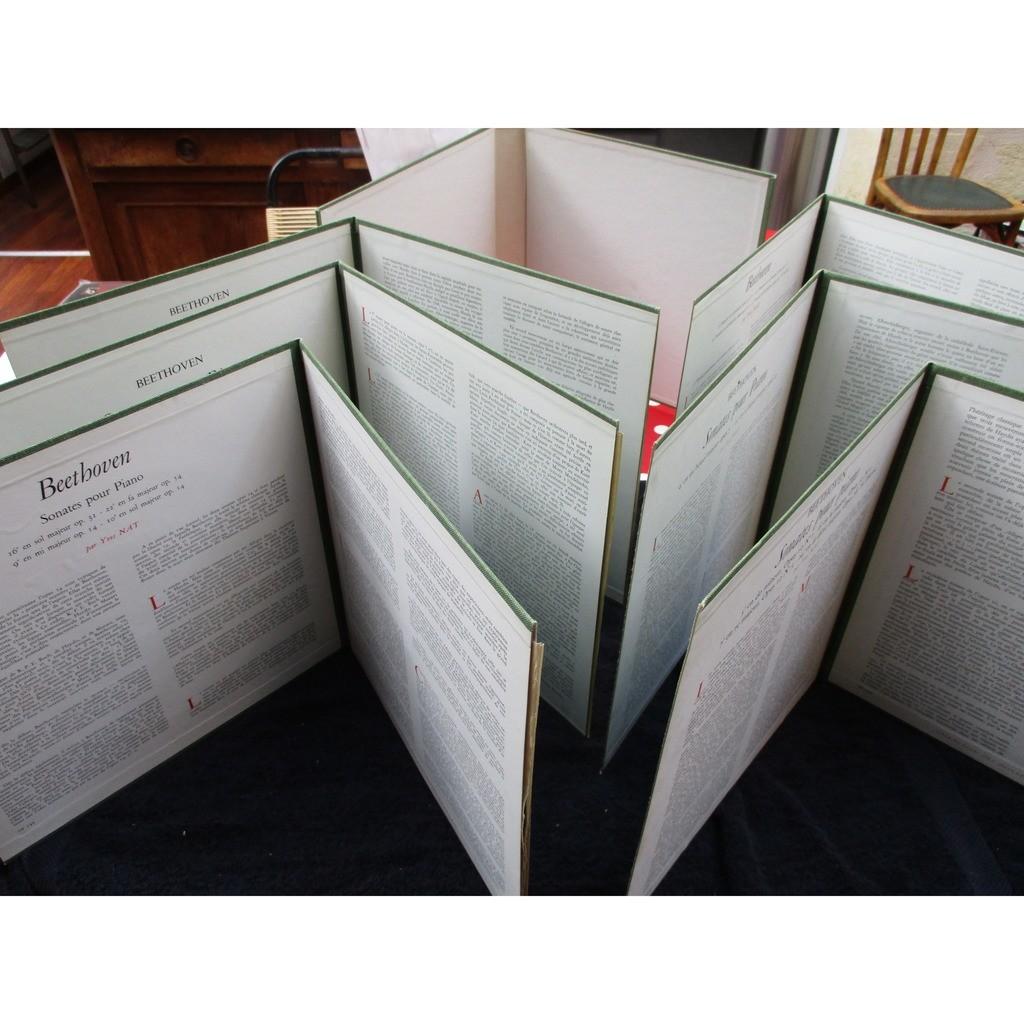 beethoven - yves nat les 32 sonates pour piano/ les discophiles français / complet / 2 boxes 11 x lp
