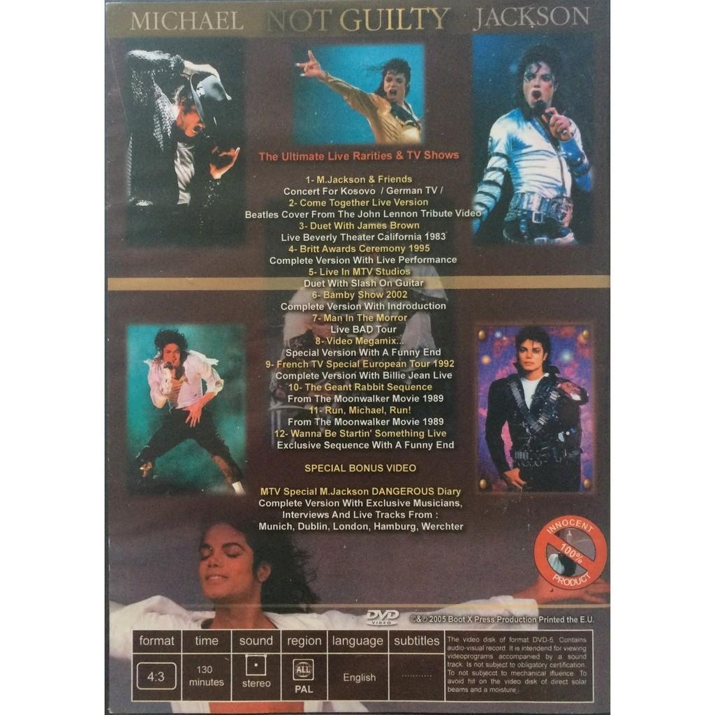 MICHAEL JACKSON - NOT GUILTY (1 DVD VERY RARE)