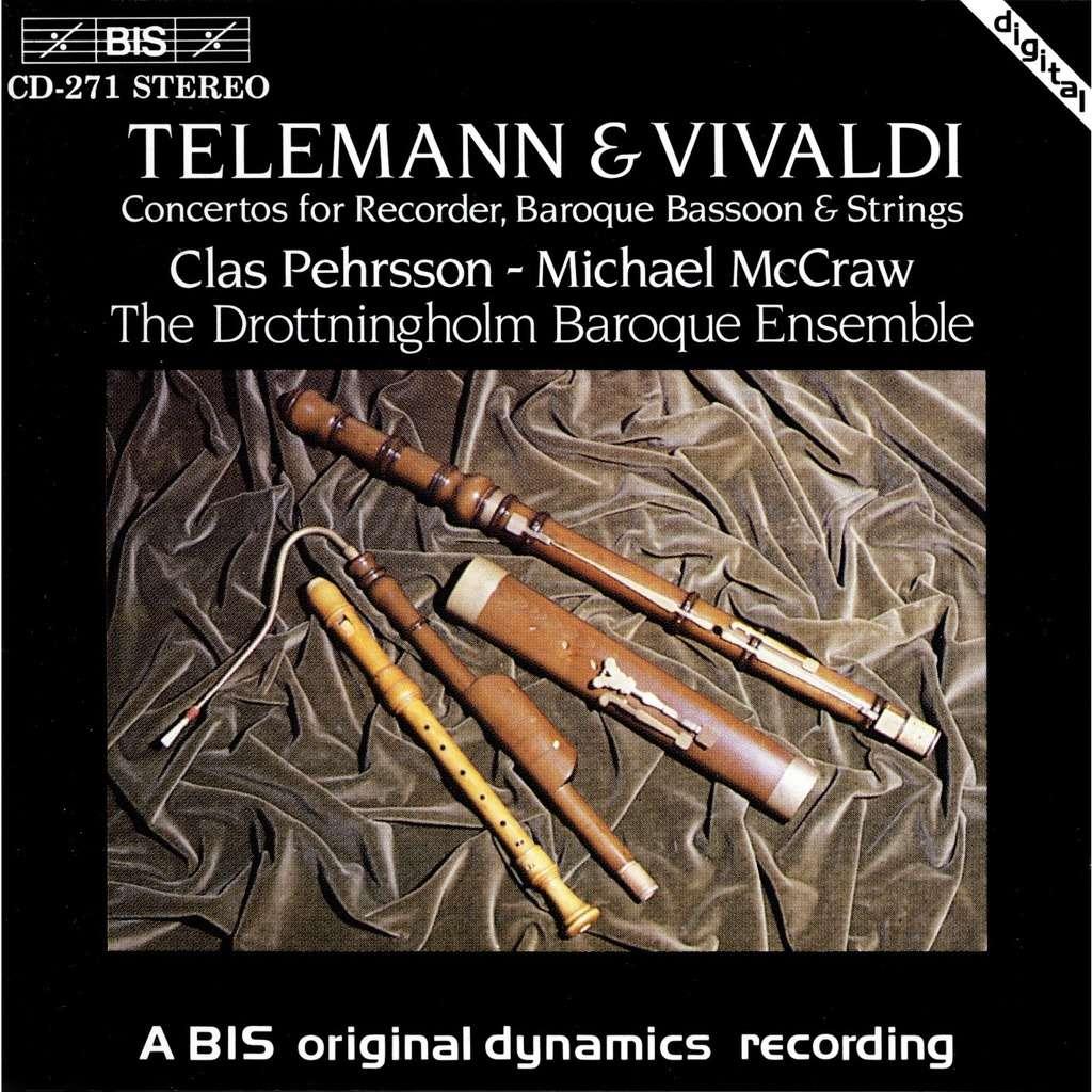 Telemann / Vivaldi Concertos for Recorder, Baroque Basson & Strings / Clas  Pehrsson (Recorder)