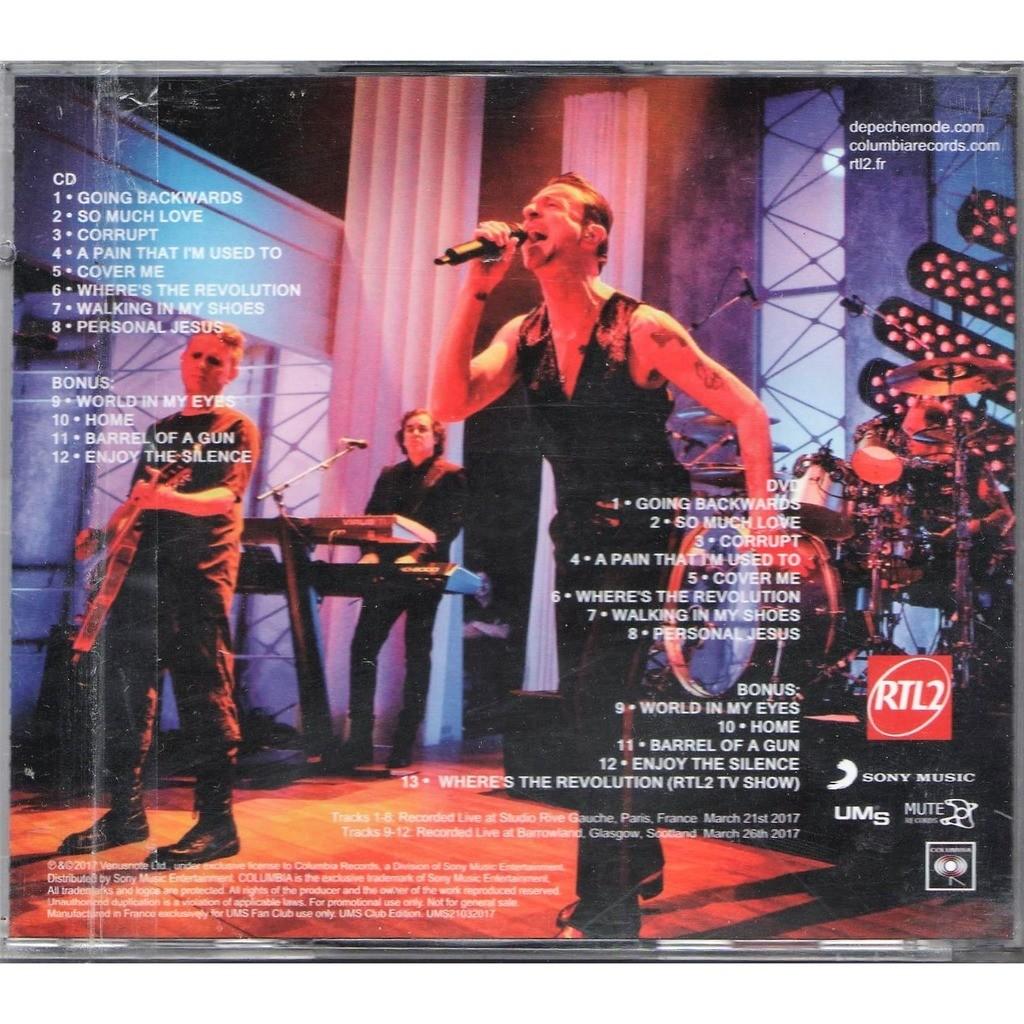 Promo spirit tour (paris 21 03 2017 & glasgow 26 03 2017) by Depeche Mode,  CD + DVD with gmvrecords