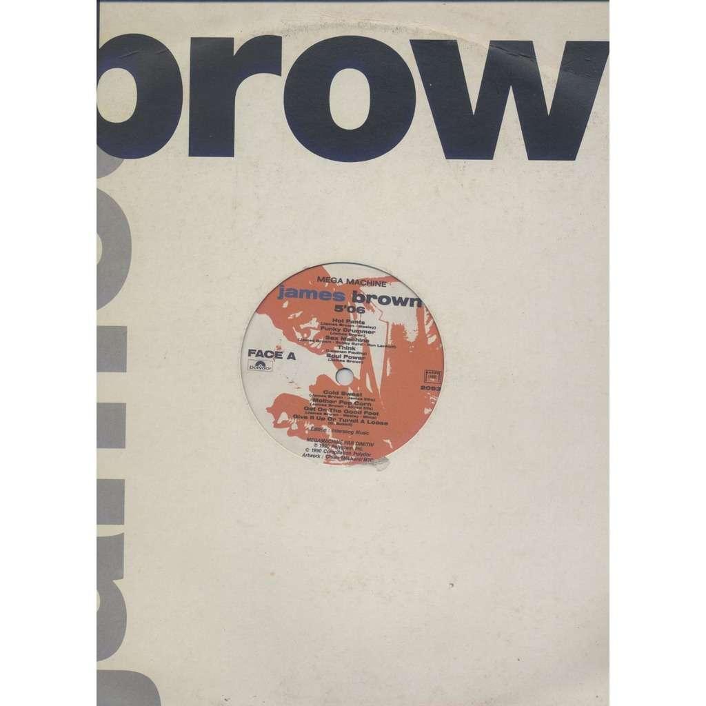 JAMES BROWN MEGA MACHINE (megamix 07 tracks / Papa's Got A Brand New Bag ) - Promo
