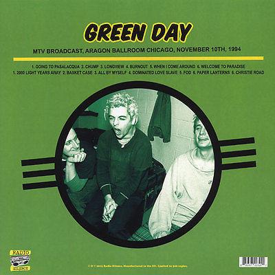 Green Day MTV Broadcast, Aragon Ballroom Chicago, November 10th, 1994 (lp)