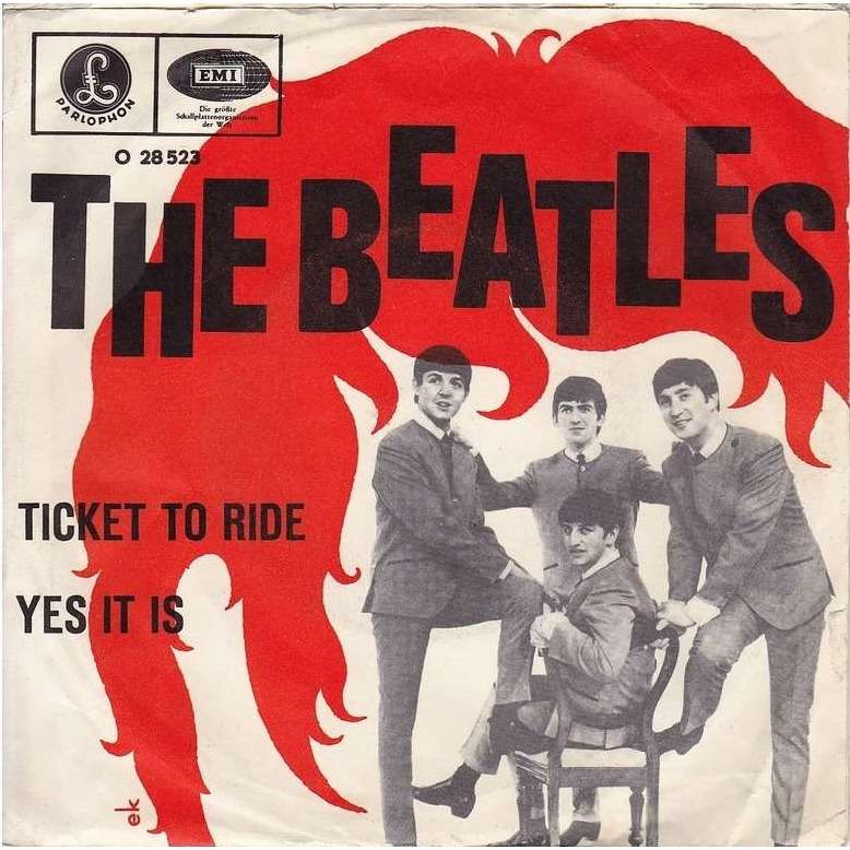 BEATLES Ticket to ride / Yes it is